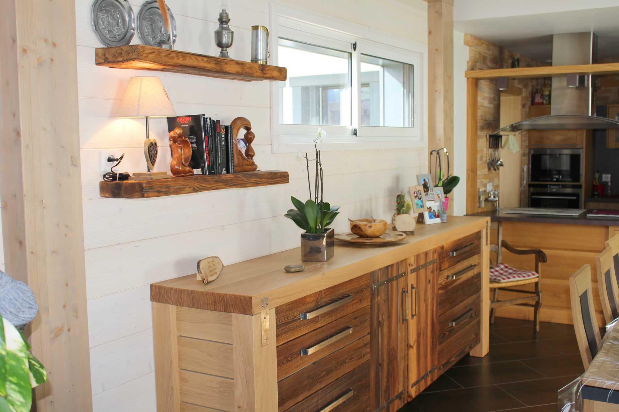 cuisines bois contemporainesmenuiserie agencement gerard. Black Bedroom Furniture Sets. Home Design Ideas