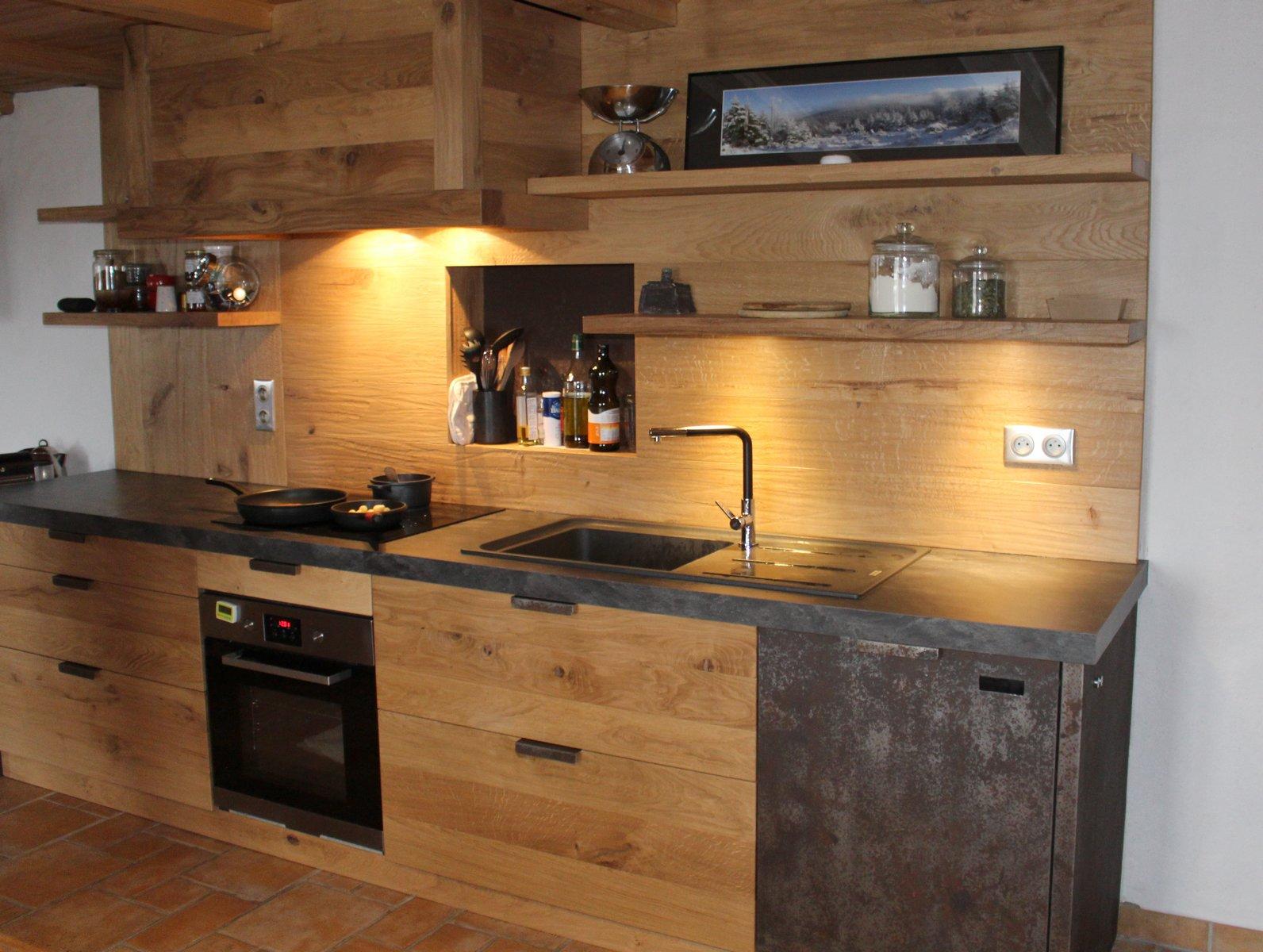 Cuisines bois contemporainesmenuiserie agencement gerard - Agencement de salle de bain ...