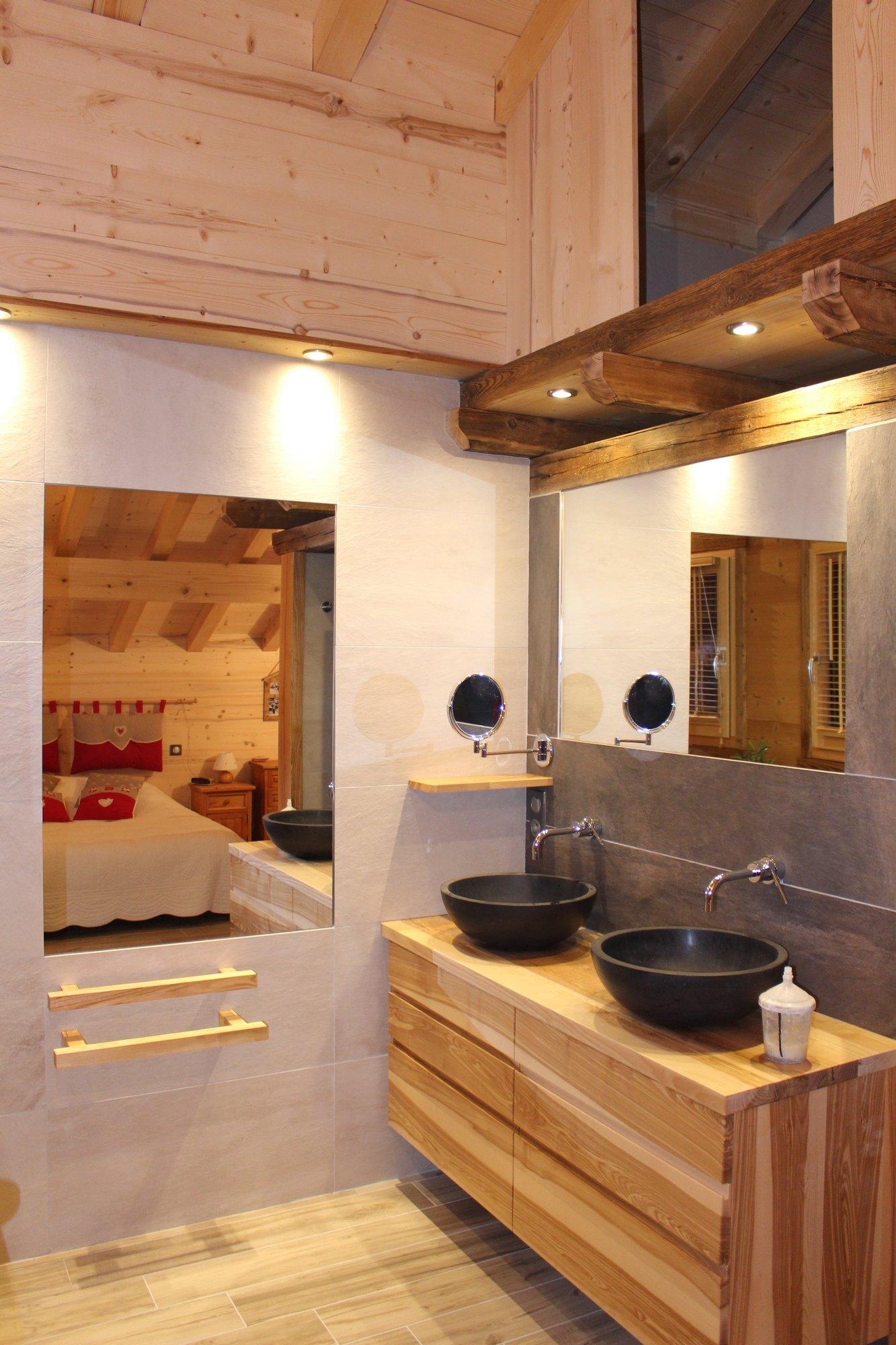 Cuisines bois contemporainesmenuiserie agencement gerard fabrication de cuisine salle de - Agencement de salle de bain ...